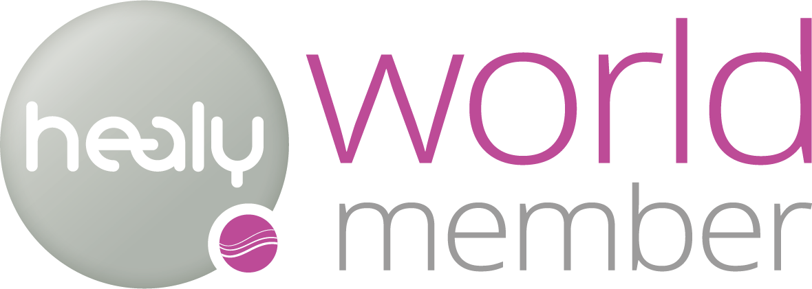 Healy World Member logo