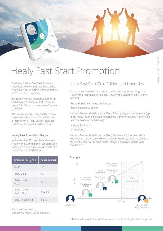 Healy World Fast Start Brochure