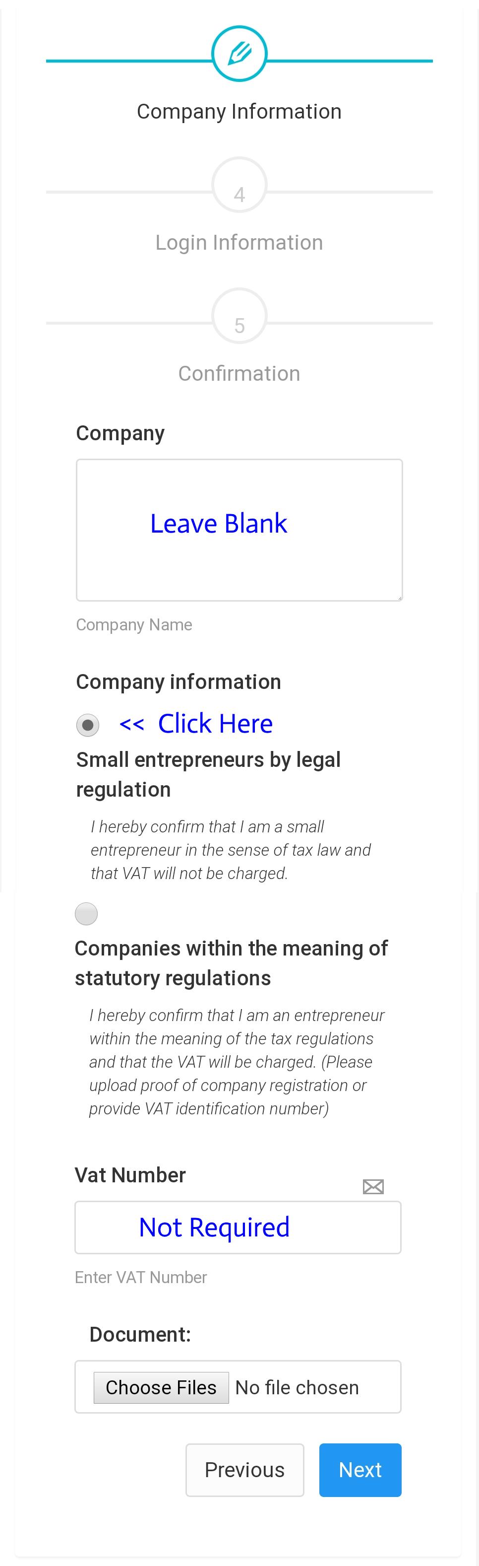 Healy New Member Company Information